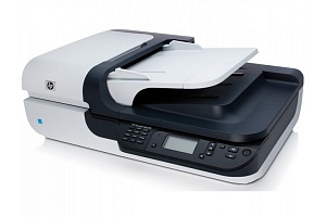HP Scanjet N6350 (L2703A) Networked Document Flatbed Scanner  / (ADF) /Hi-Speed USB 2.0/2400 dpi/48-bit/65536 Grayscale/ Up to 15 ppm; 6 ipm (b&w, grey, 200 dpi)/ Transparency adapter/ Scan size (ADF): maximum 216 x 356 mm