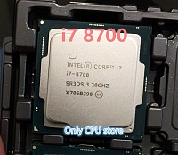CPU  Intel Core i7-8700  3.2 GHz/8 MB/S1151