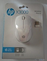 N4G64AA	HP X3000 Blizzard White Wireless Mouse